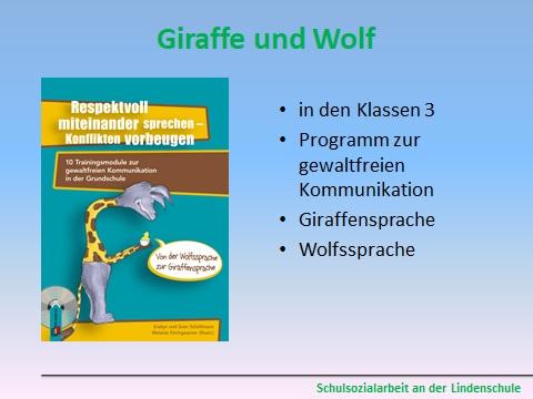 Giraffe und Wolf